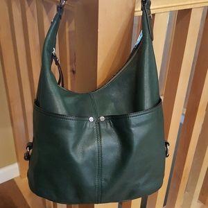 Tignanello green handbag
